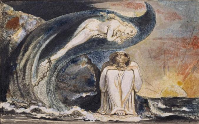 Plate 4 of 'Visions of the Daughters of Albion' c.1795 by William Blake 1757-1827